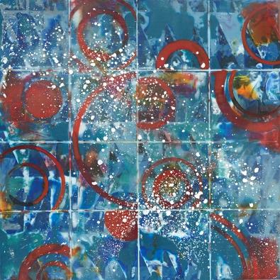"Untitled 8"" x 8"" encaustic on cradled panel 2017"