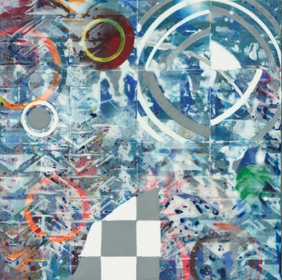 "Untitled 8"" x 8"" Encaustic on cradled wood panel 2017"
