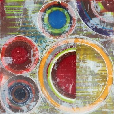 "6""x6"" Encaustic and pastel on cradled wood panel 2016"
