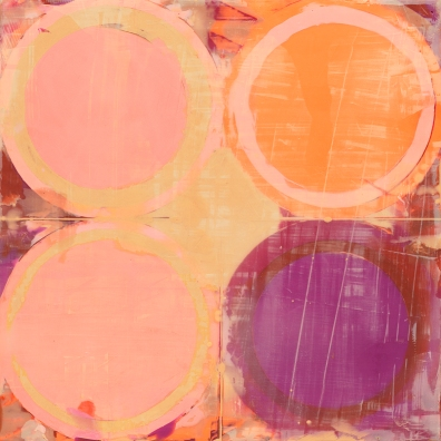 "Zoom 10"" x 10"" Encaustic and pastel on cradled wood panel 2017"